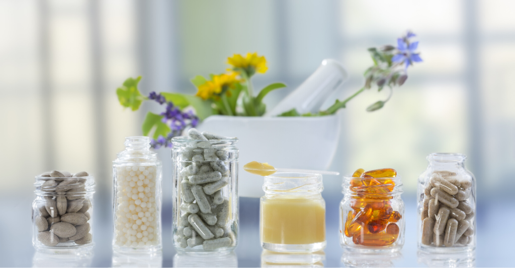 Weight loss vitamins and supplements on counters